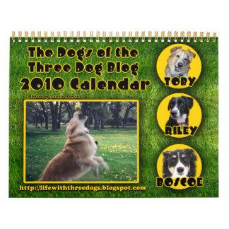 2010 Calendar The Dogs of the Three Dog Blog