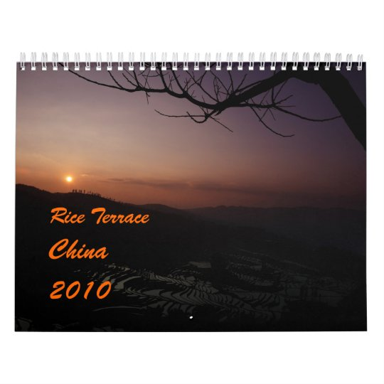 2010 calendar with rice terrace photos