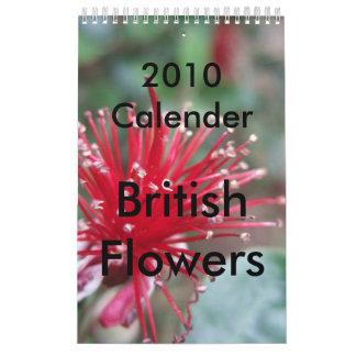 2010 Calender Flowers Calendar