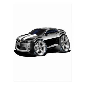 2010 Camaro Black-White Car Postcard