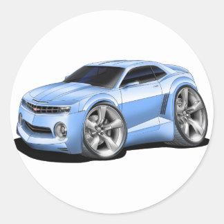 2010 Camaro Lt Blue Car Classic Round Sticker