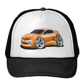 2010 Camaro Orange Car Trucker Hat