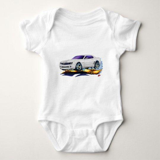 2010 Camaro White Car Baby Bodysuit