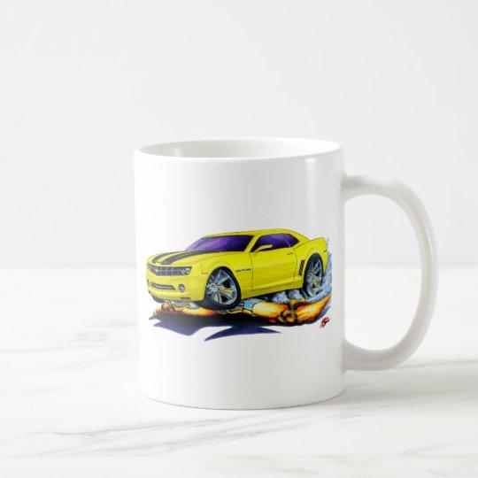 2010 Camaro Yellow-Black Car Coffee Mug