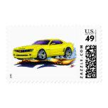 2010 Camaro Yellow Car Postage