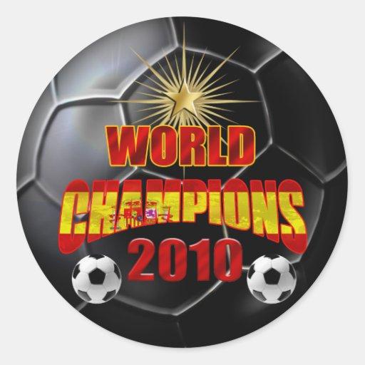2010 campeones del mundo España Pegatina