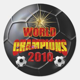 2010 campeones del mundo España Pegatina Redonda