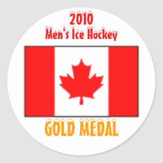 2010 Canada Men's Ice Hockey - Gold Medal Classic Round Sticker