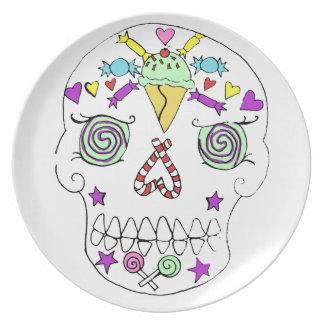 2010 Candy Skull Sugar Skull Dinner Plate