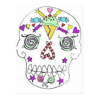2010 Candy Skull Sugar Skull Postcard