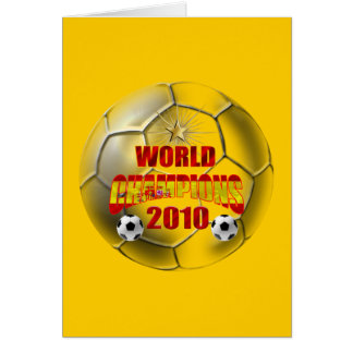 2010 Champions of the world spain Card