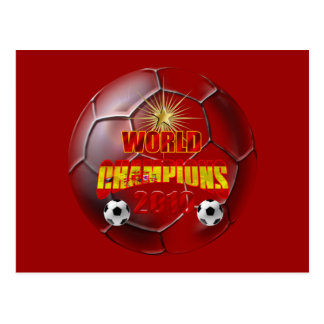 2010 Champions of the world spain Postcard
