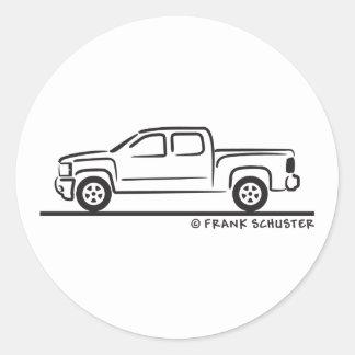 2010 Chevrolet Silverado Classic Round Sticker