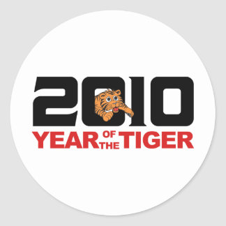 2010 Chinese Year of The Tiger Gift Classic Round Sticker