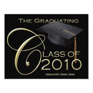 2010 Classic Black & Gold Graduation Announcement