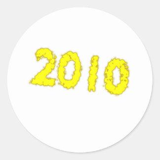 2010 CLASSIC ROUND STICKER