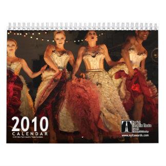 2010 concede el calendario de pared