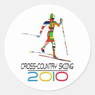 2010: Cross Country Skiing Classic Round Sticker