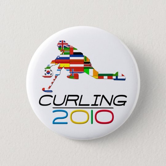 2010: Curling Pinback Button