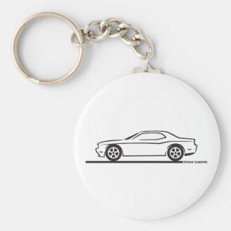 2010 Dodge Challenger Basic Round Button Keychain