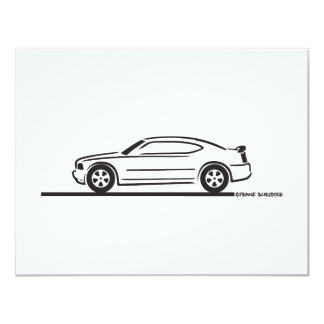 2010 Dodge Charger 4.25x5.5 Paper Invitation Card