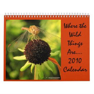 2010 donde están las cosas salvajes… Calendario