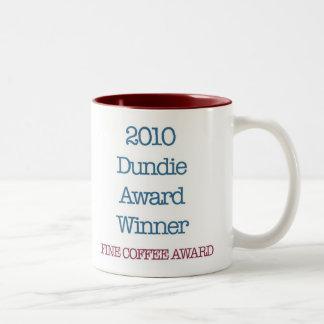 "2010 Dundie award winner ""fine coffee award"" Two-Tone Coffee Mug"