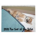 2010 el año del Shiba Calendarios
