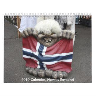 2010 el calendario, Noruega reveló Calendarios De Pared