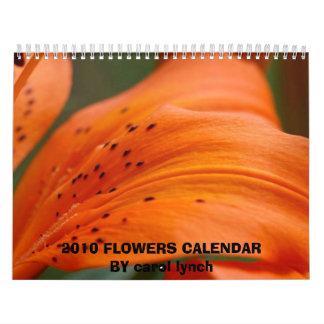 2010 el villancico de las FLORES CALENDARBY lincha Calendarios De Pared