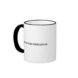 2010 es la consecuencia a a 1984 taza de café