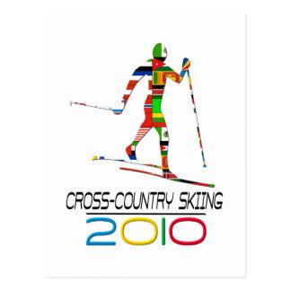 2010: Esquí del campo a través Tarjeta Postal