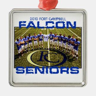 2010 Falcon Seniors Metal Ornament