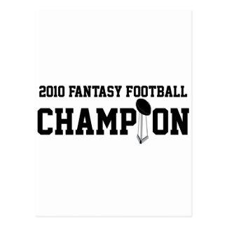 2010 Fantasy Football Champion Postcard