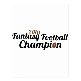 2010 fantasy football champion postcard