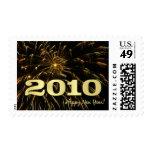 2010 Felices Año Nuevo - sellos del día de fiesta