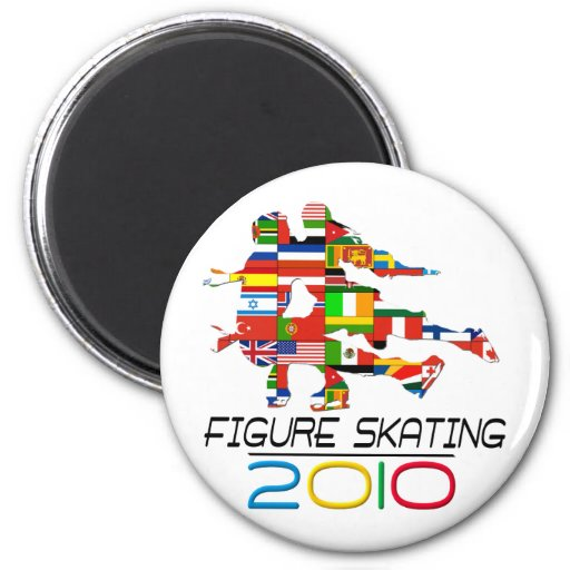 2010: Figure Skating 2 Inch Round Magnet
