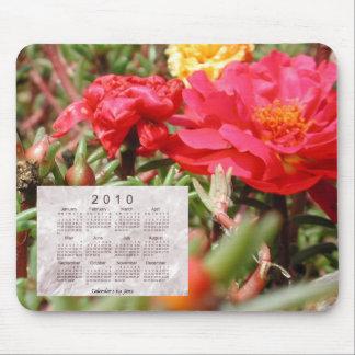 2010 Floral Calendar Mouse Pad