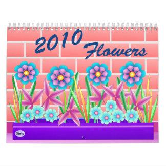 2010 flores calendario de pared