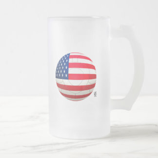 2010 Football Frosted Glass Beer Mug
