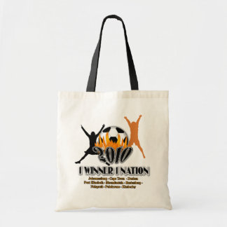 2010 Football host country 1 winner 1 nation Budget Tote Bag