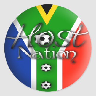 2010 Football host nation gifts & souvenirs Classic Round Sticker