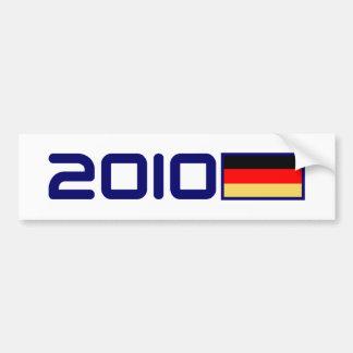 2010 German FLAG Car Bumper Sticker