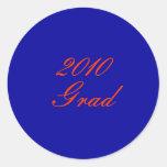 2010, Grad Round Sticker