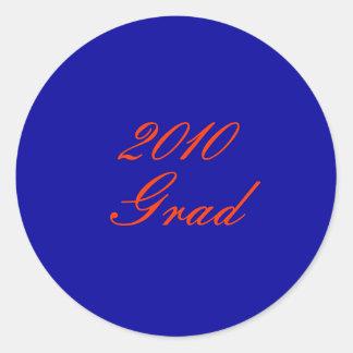2010, graduado pegatina redonda