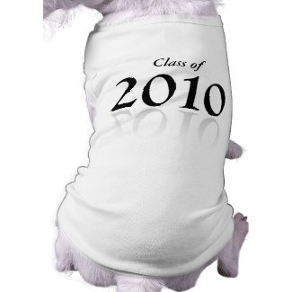 2010 Graduation gifts dog Class of 2010 petshirt