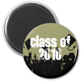 2010 Graduation Magnet-You Choose Background color 2 Inch Round Magnet