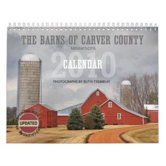 2010 graneros de calendario del condado de Carver