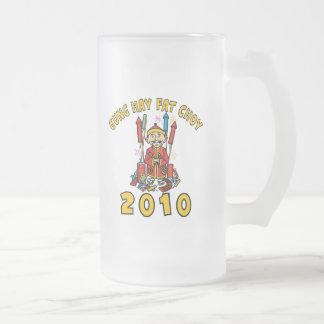 2010 Gung Hay Fat Choy Frosted Glass Beer Mug