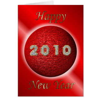 2010 HAPPY NEW YEAR BLING CHINESE NEW YEAR CARD